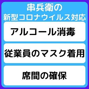 串兵衛コロナ対策画像(正方形)